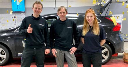 Frydenbø-teknikere til topps i Norge - nå går turen til VM